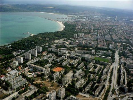 Варна и морето от високо