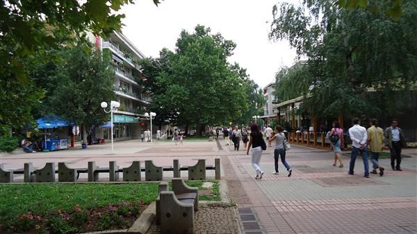 центъра на града